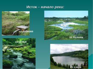 Исток – начало реки: