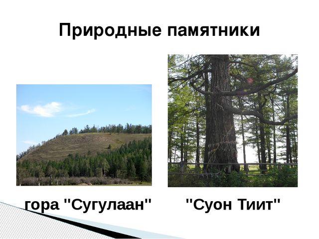 """Природные памятники гора """"Сугулаан"""" """"Суон Тиит"""""""