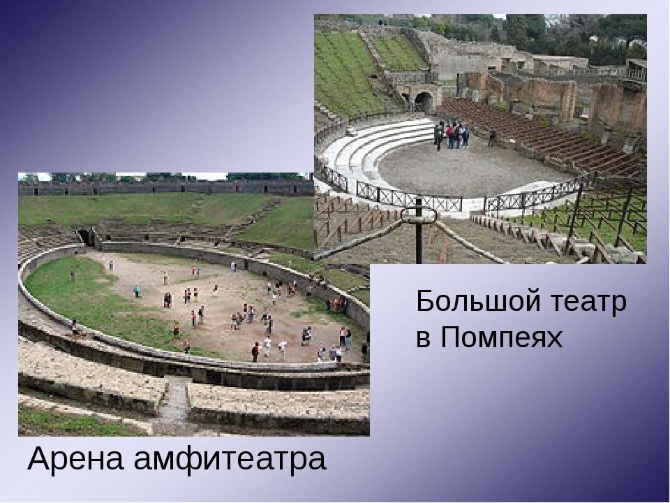 Арена амфитеатра Большой театр в Помпеях