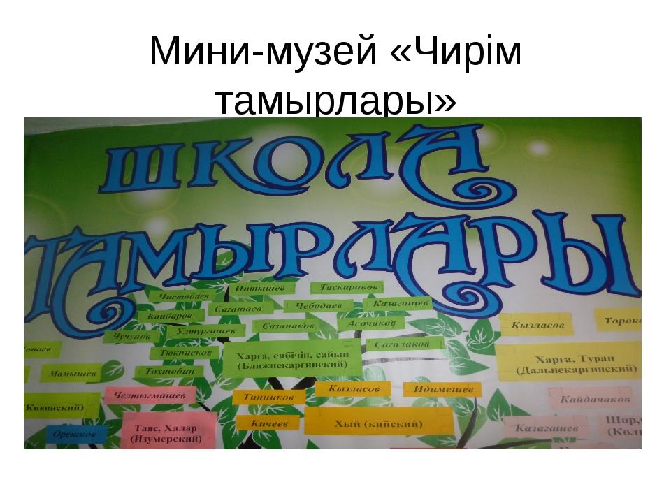 Мини-музей «Чирiм тамырлары»