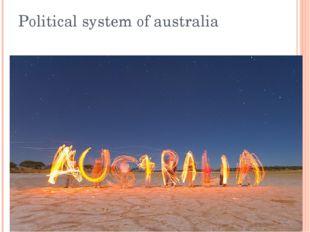 Political system of australia