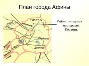 План города Афины Район гончарных мастерских Керамик