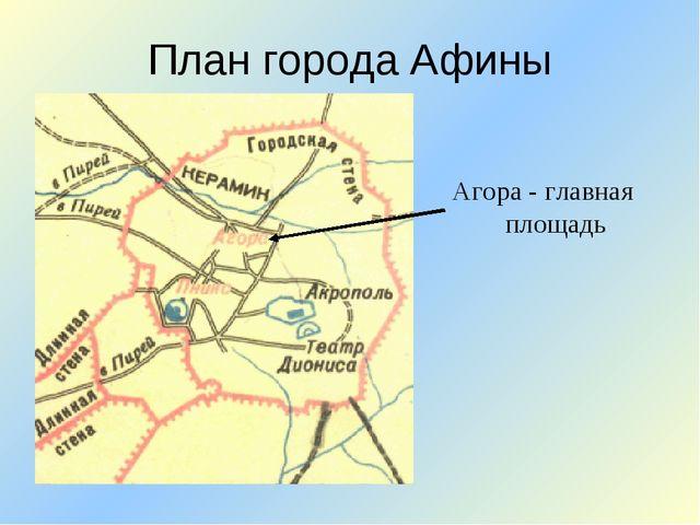 План города Афины Агора - главная площадь