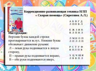 Коррекционно-развивающая техника НЛП « Скорая помощь» (Сиротнюк А.Л.) А Б В
