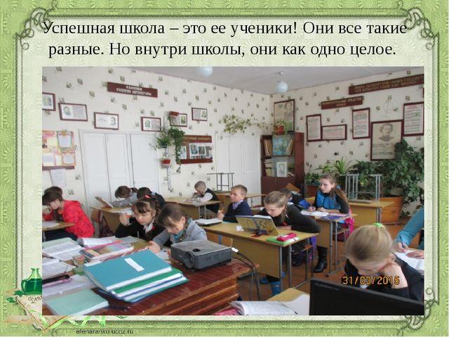 Успешная школа – это ее ученики! Они все такие разные. Но внутри школы, они к...