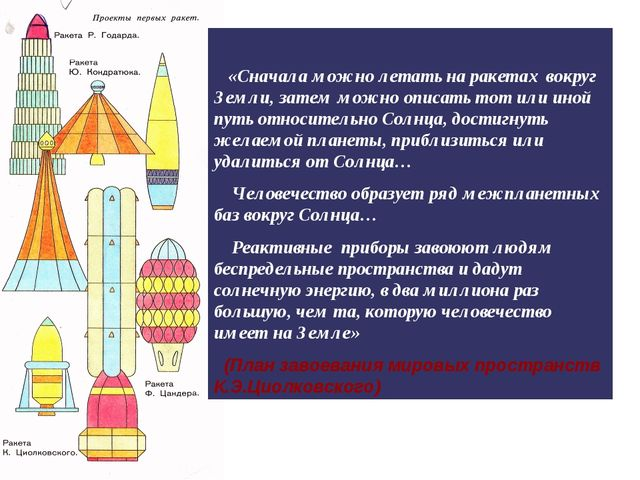 «Сначала можно летать на ракетах вокруг Земли, затем можно описать тот или и...