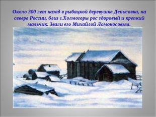 Около 300 лет назад в рыбацкой деревушке Денисовка, на севере России, близ г