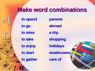 Make word combinations