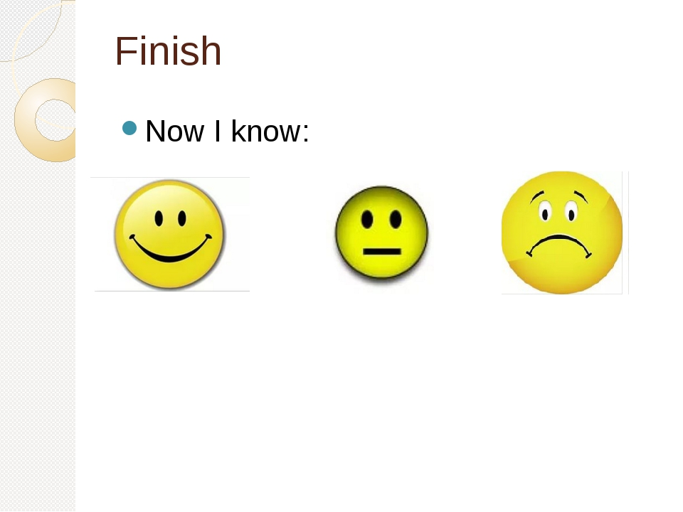 Finish Now I know: