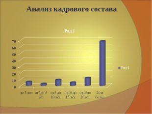 Анализ кадрового состава