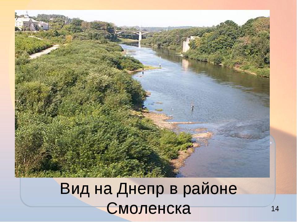 Вид на Днепр в районе Смоленска