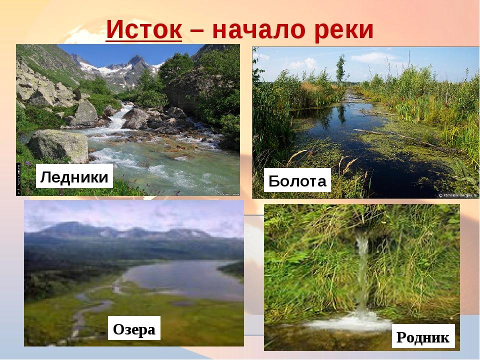Исток – начало реки * Болота Ледники Озера Родник