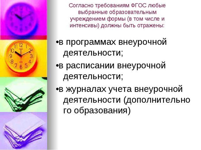 СогласнотребованиямФГОСлюбые выбранныеобразовательным учреждениемформы(...