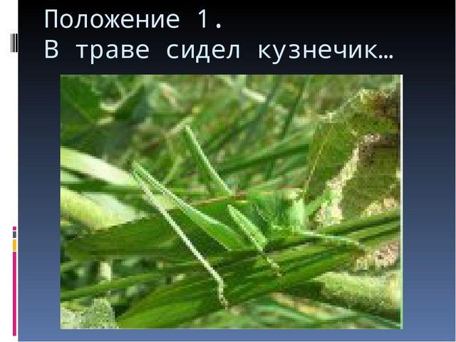 Положение 1. В траве сидел кузнечик…