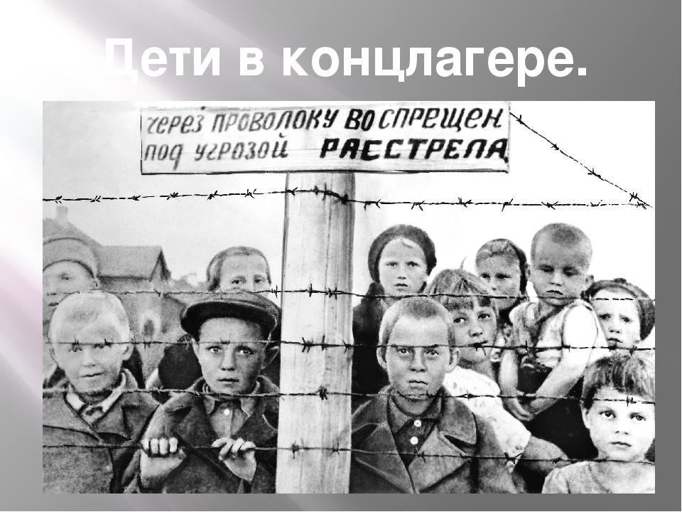 Дети в концлагере.