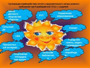 Организация взаимодействия летнего оздоровительного лагеря дневного пребывани