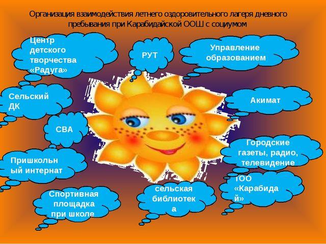 Организация взаимодействия летнего оздоровительного лагеря дневного пребывани...