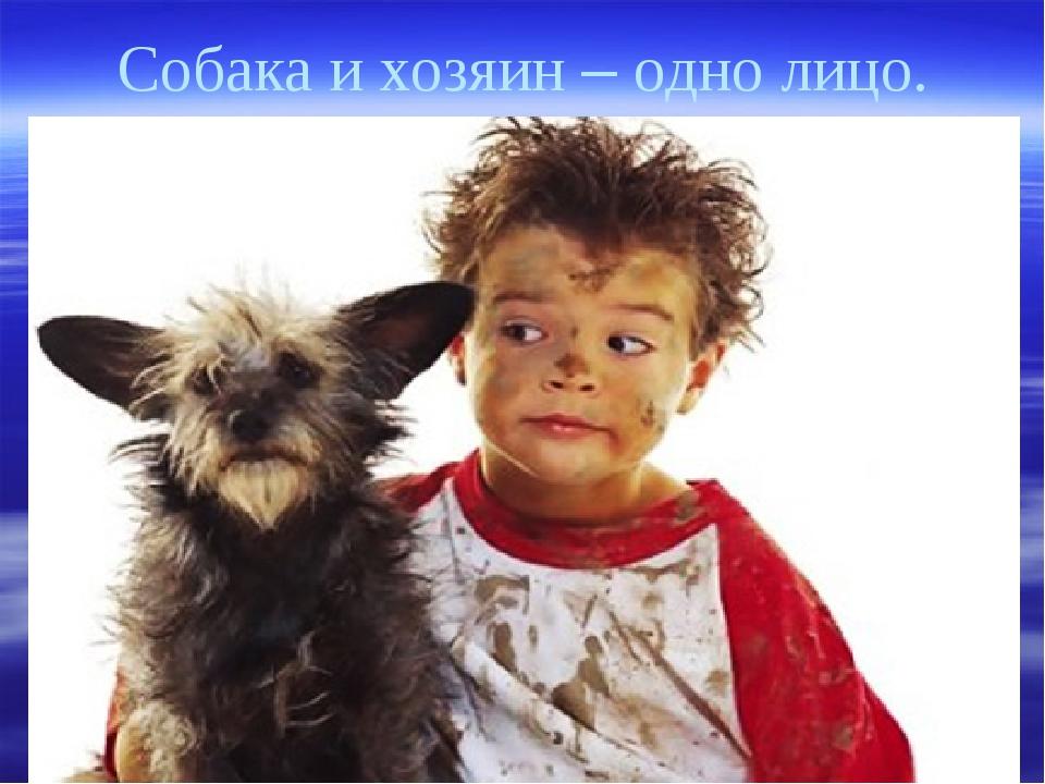 Собака и хозяин – одно лицо.