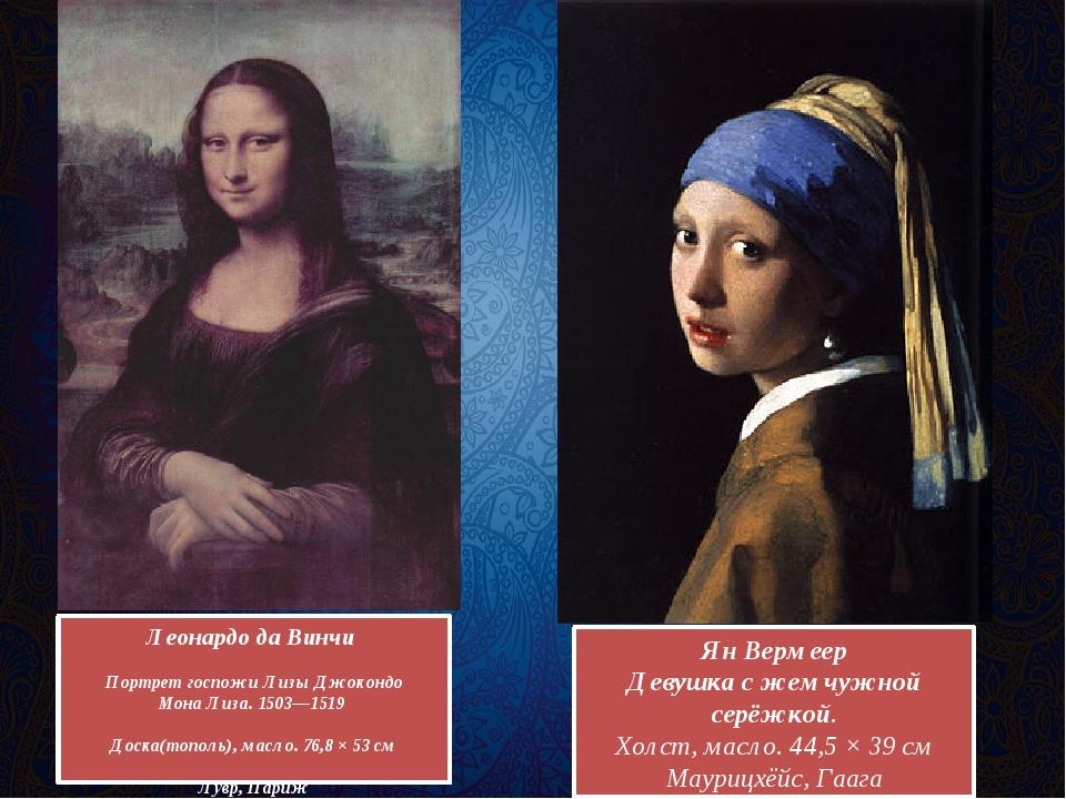 Леонардо да Винчи Портрет госпожиЛизы Джокондо Мона Лиза.1503—1519 Доска(то...