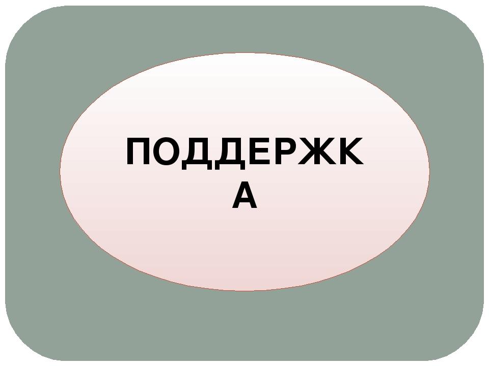 ПОДДЕРЖКА