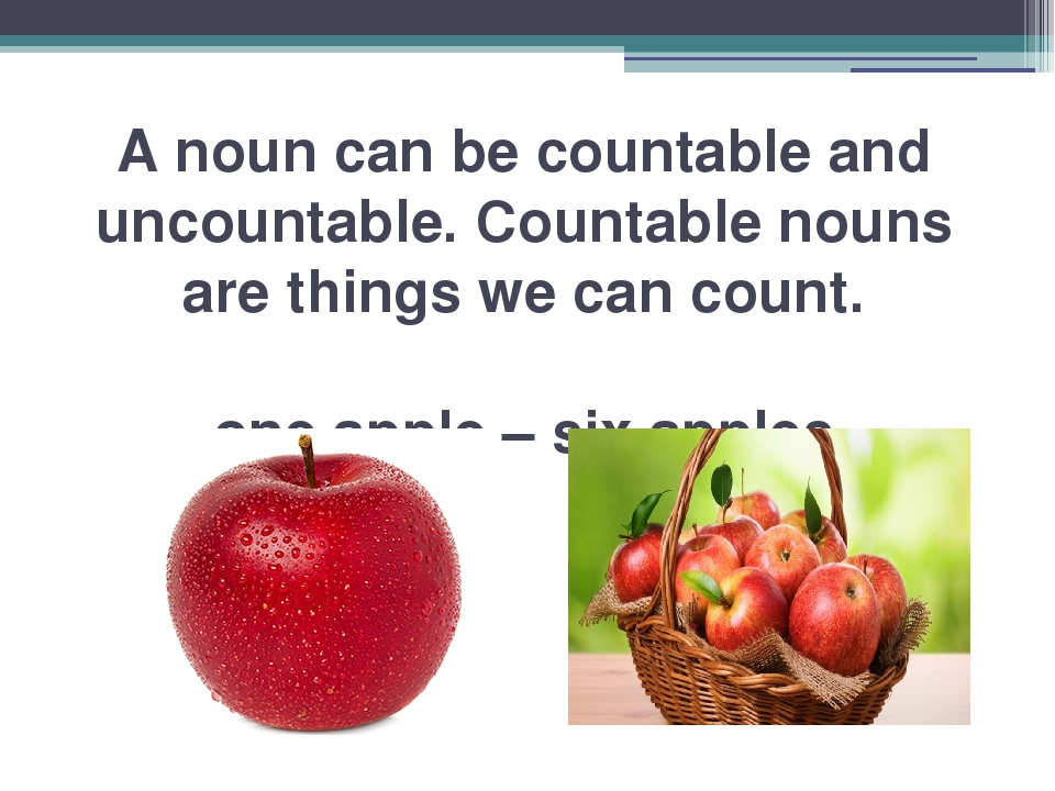 A noun can be countable and uncountable. Countable nouns are things we can co...