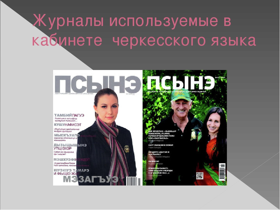 Журналы используемые в кабинете черкесского языка
