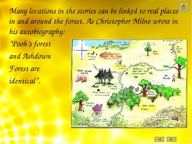 Many locations in the stories can be linked to real places in and around the...