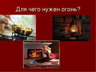 Для чего нужен огонь?