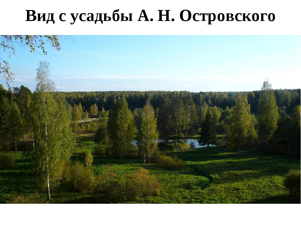 Вид с усадьбы А. Н. Островского
