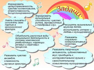Расширять музыкальный кругозор детей, воспитывать интерес и любовь к музициро