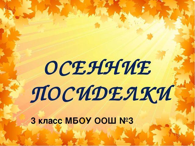 3 класс МБОУ ООШ №3