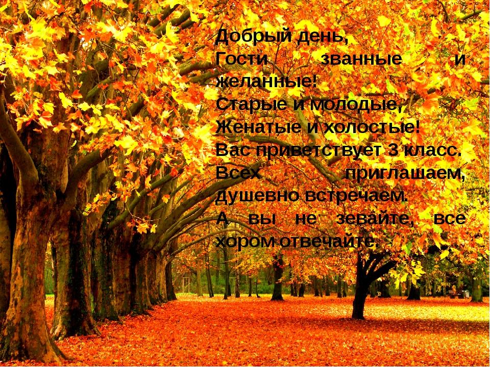 Добрый день, Гости званные и желанные! Старые и молодые, Женатые и холостые!...