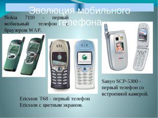 Эволюция мобильного телефона Nokia 7110 - первый мобильный телефон с браузеро