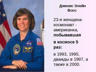 Дженис Элейн Восс 23-я женщина-космонавт - американка, побывавшая в космосе 5
