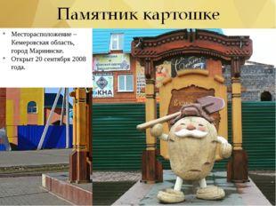 Месторасположение – Кемеровская область, город Мариинске. Открыт 20 сентября