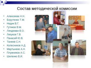 Состав методической комиссии