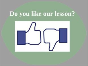 Do you like our lesson?