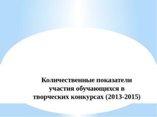 Количественные показатели участия обучающихся в творческих конкурсах (2013-20