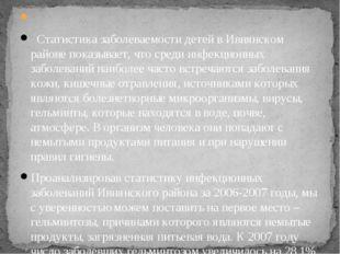 Статистика заболеваемости детей в Ивнянском районе показывает, что среди ин