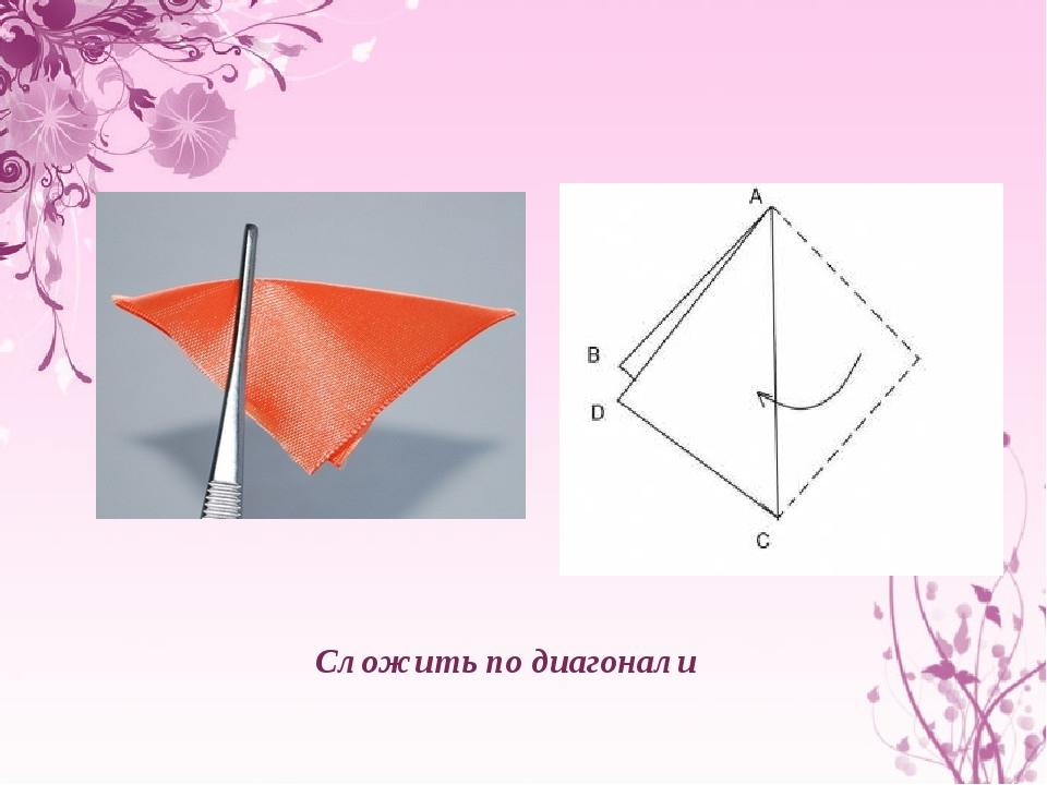 Сложить по диагонали