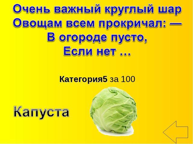 Категория5 за 100