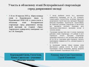 Участь в обласному етапі Всеукраїнської спартакіади серед допризовної молоді