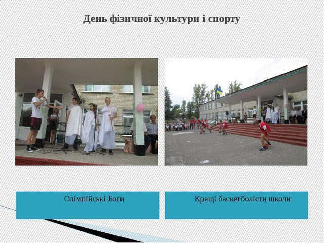 День фізичної культури і спорту Олімпійські Боги Кращі баскетболісти школи