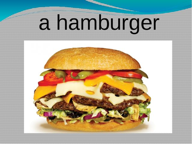a hamburger