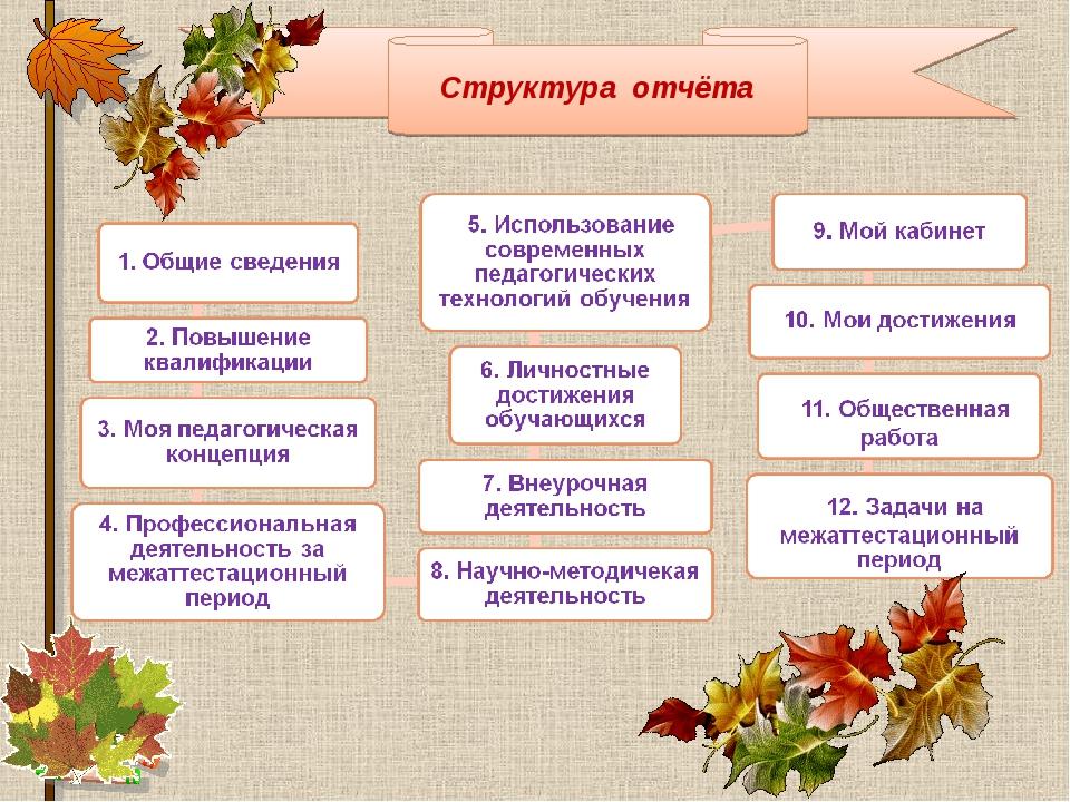 Структура отчёта