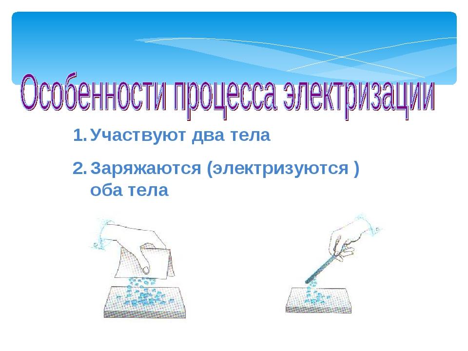 Участвуют два тела Заряжаются (электризуются ) оба тела Мой университет- www....