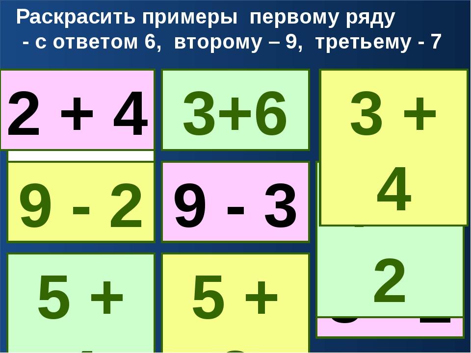 2 + 3 6 - 1 7 - 2 3 + 3 4 + 2 7 - 1 8 - 1 6 + 1 5 + 2 2 + 4 Раскрасить пример...