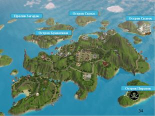 Остров Буквоежки Пролив Загадок Остров Скуки Остров Сказок Остров Пиратов