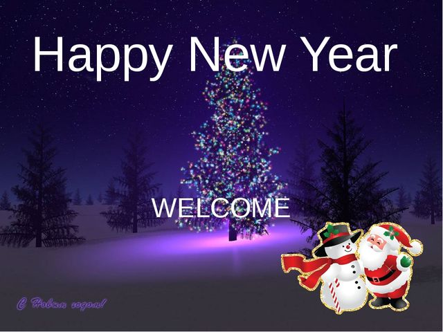 Happy New Year WELCOME