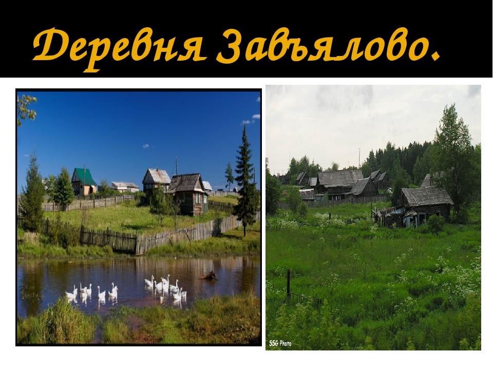 Деревня Завъялово.